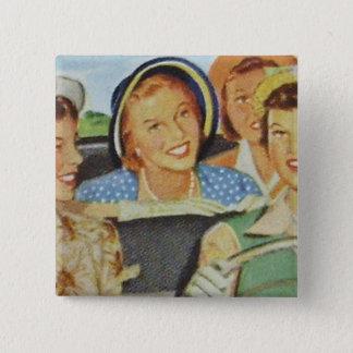 Vintage Women Button