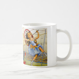 Vintage Women Circus Performer High Wire Coffee Mug