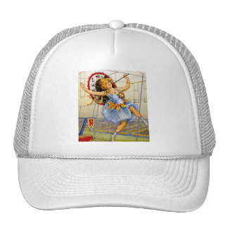 Vintage Women Circus Performer High Wire Trucker Hat