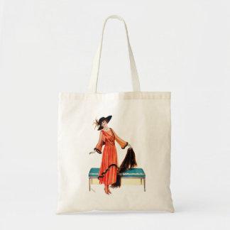 Vintage Women Edwardian Victorian Woman Budget Tote Bag