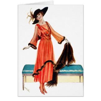 Vintage Women Edwardian Victorian Woman Card