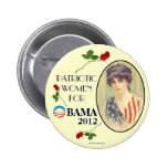 Vintage Women for OBAMA 2012 political pinback but Pinback Buttons
