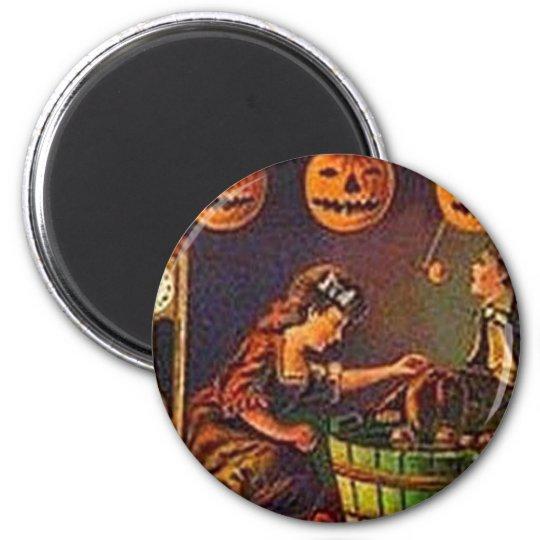 Vintage Women, Ghost and Jack o' Lanterns Magnet