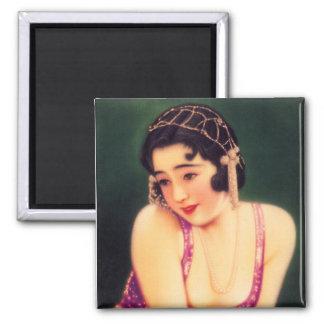 Vintage Women Japanese Beautiful Geisha Girl Magnet
