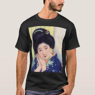 Vintage Women Japanese Beautiful Geisha Girl T-Shirt