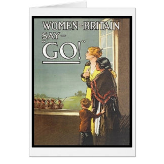 Vintage Women of Britain Say Go Recruitment Poster Card