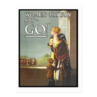 Vintage Women of Britain Say Go Recruitment Poster Post Card
