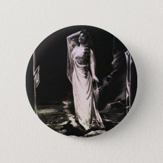 Vintage women picture pinback button