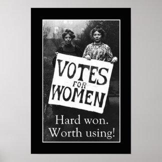 Vintage Women Vote Poster
