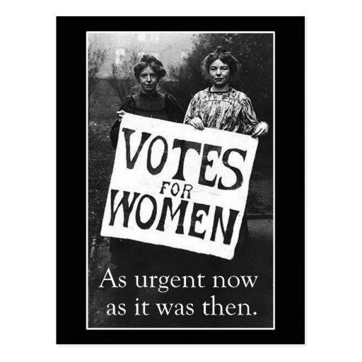 Vintage Women Vote Template Message Postcard