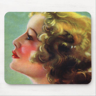 Vintage Women Woman 20s Beauty Starlet Mouse Pad