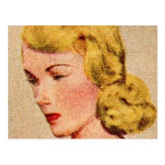 Vintage Women Woman 40s Catalog Art Mavis Post Card