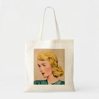 Vintage Women Woman 40s Catalog Art 'Mavis' Tote Bag