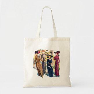 Vintage Women Woman Edwardian Victorian Coutre Budget Tote Bag