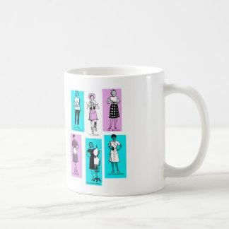 Vintage Women Woman Sixties Occupations Suburbs Classic White Coffee Mug
