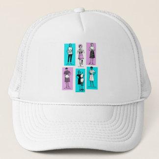 Vintage Women Woman Sixties Occupations Suburbs Trucker Hat