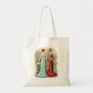 Vintage Women Womans Fashion Dresses Couture Budget Tote Bag
