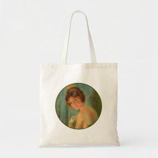 Vintage Women Womans Fashion Victorian Portrait Budget Tote Bag