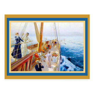 Vintage Women Yachting Postcard