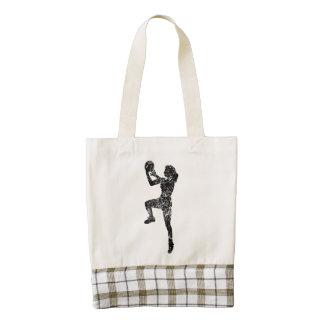 Vintage Women's Basketball Player Zazzle HEART Tote Bag