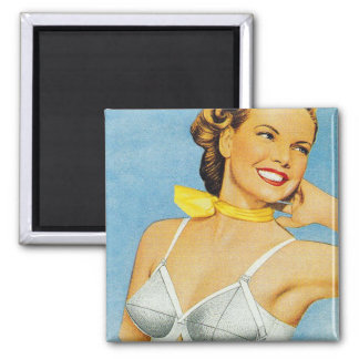 Vintage Women's Brassiere Bra Advertisement Magnet