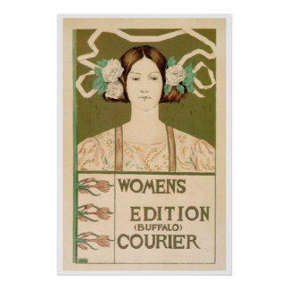 Vintage Women's Edition Buffalo Courier Posters