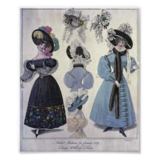 Vintage Women's Fashion 1800's Poster