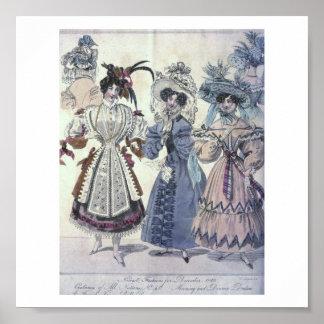 Vintage Women's Fashion 1800's Poster