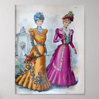 Vintage Women's Fashion 1890's Poster