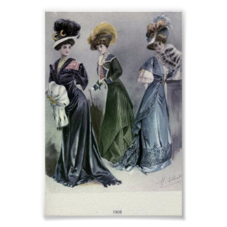 Vintage Women's Fashion 1900's Poster