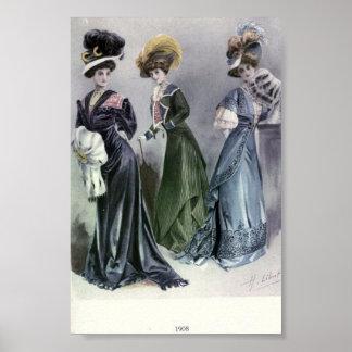 Vintage Women's Fashion 1900's Poster