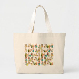 Vintage Women's Fashion Large Tote Bag