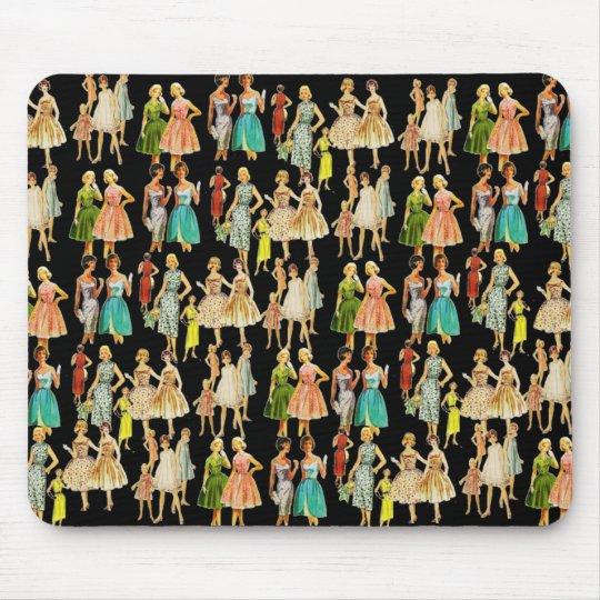 Vintage Women's Fashion Mouse Pad
