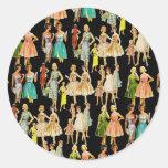 Vintage Women's Fashion Sticker