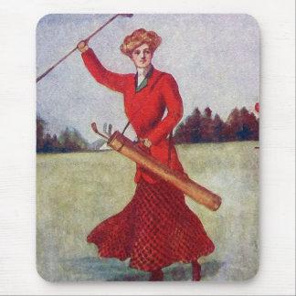 Vintage Women's Golf Fashion 1910s Mouse Pad