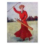Vintage Women's Golf Fashion 1910s Postcard