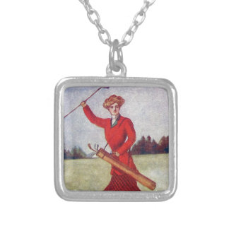 Vintage Women's Golf Fashion 1910s Silver Plated Necklace