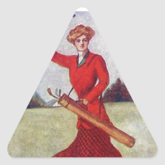 Vintage Women's Golf Fashion 1910s Triangle Stickers