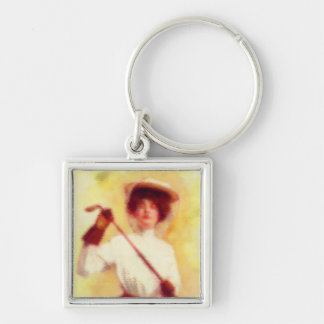 Vintage Women's Golf Fashion Keychain