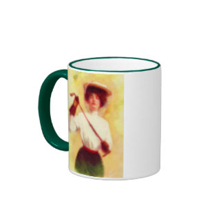 Vintage Women's Golf Fashion Ringer Mug