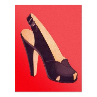 Vintage Womens High Heels Shoe Postcard