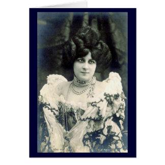 Vintage Women's Postcard Images Greeting Card