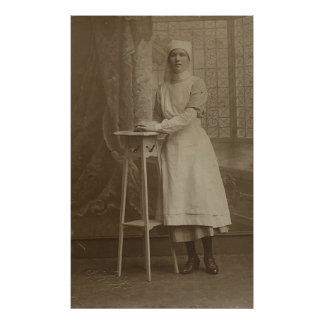 Vintage Women's Postcard Images Poster