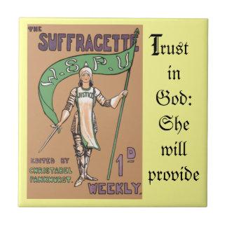 Vintage Womens Suffragette Gift Tile