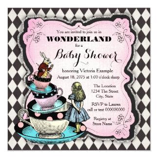 alice invitations & announcements | zazzle, Baby shower invitations