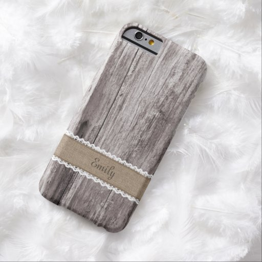 Vintage Wood Background Custom Name iPhone 6 Case