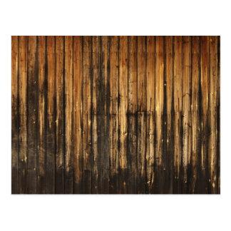 vintage Wood Boards Postcard