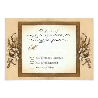 vintage wood frame wedding rsvp design card