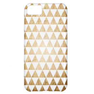 Vintage Wood Grain Geometric Triangle iPhone Case Case For iPhone 5C