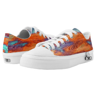 Vintage Wood Grain Modern Abstract Art #2 Low-Top Sneakers